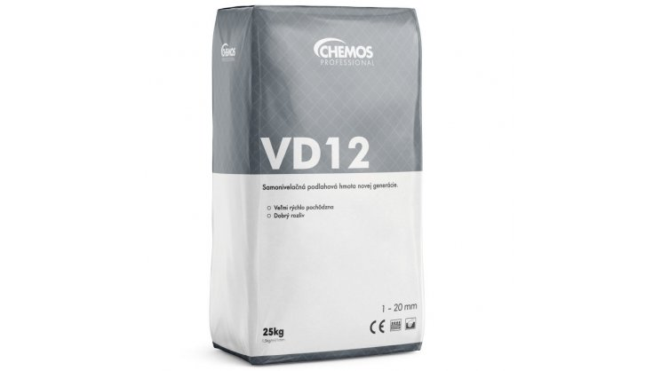Opravný tmel Chemos VD 12 / 25 kg 0