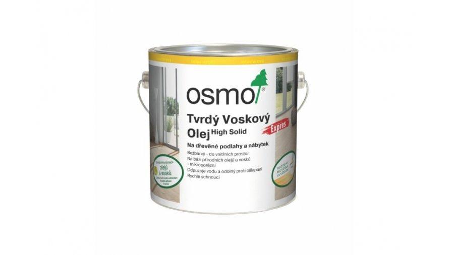 Tvrdý voskový olej Osmo Express bezbarvý mat 2,50 l 0