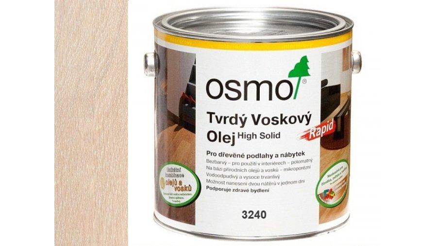 Tvrdý voskový olej Osmo Rapid Bílý transparentní 2,50 l 0