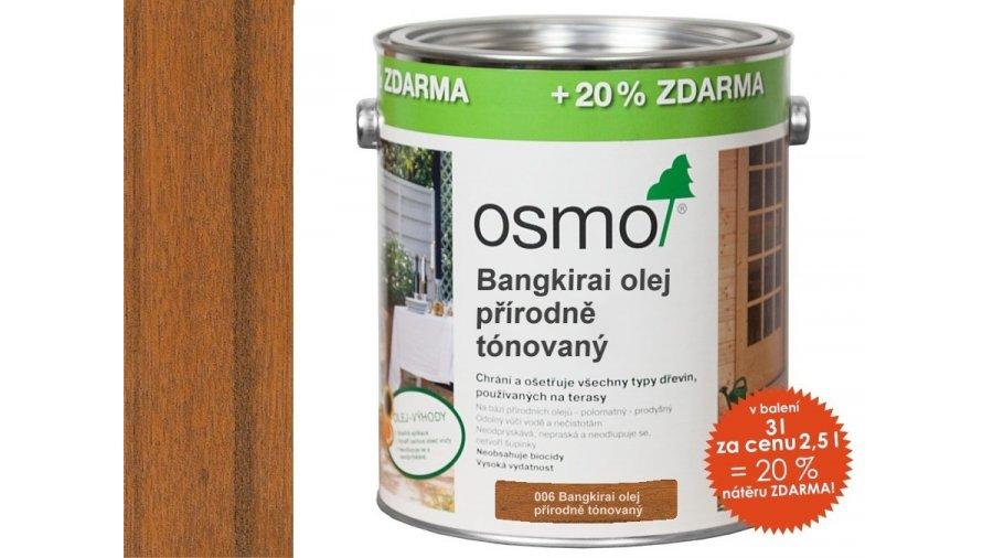 Speciální olej na dřevo - Olej na banghirai přírodně zbarvený 2,5l 0