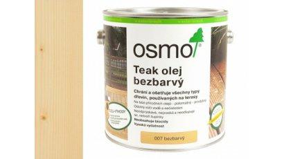 Speciální olej na dřevo - Olej na teak bezbarvý 2,5l 0