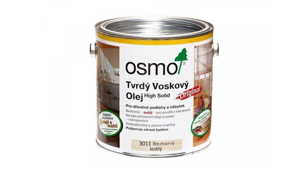 Tvrdý voskový olej Osmo 3011 bezbarvý lesklý 0,375l 0