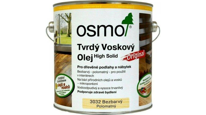 Tvrdý voskový olej Osmo 3032 bezbarvý hedvabný polomat 25l 0