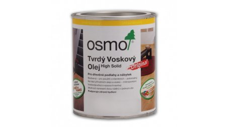 Tvrdý voskový olej Osmo bezbarvý polomat 10 l 0