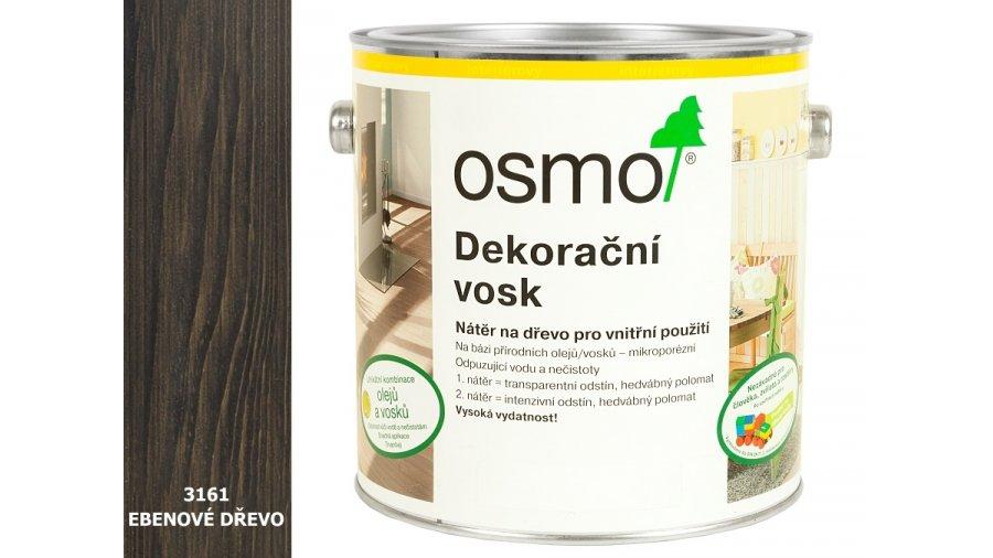 Dekorační vosk transparentní odstíny ebenové dřevo 0,375l 0