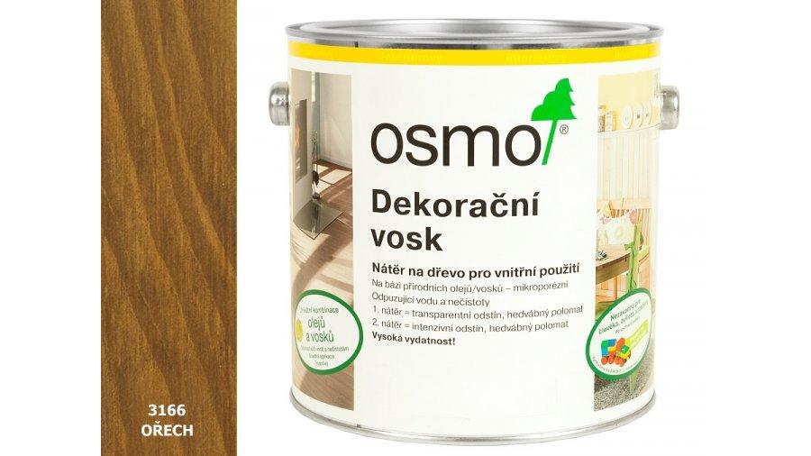 Dekorační vosk transparentní odstíny ořech 0,375l 0