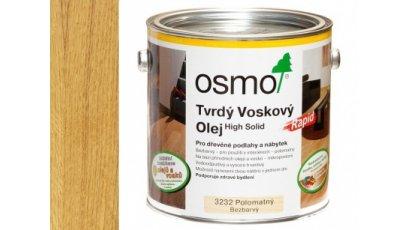 Tvrdý voskový olej Osmo Rapid bezbarvý hedvábný polomat 10 l 0