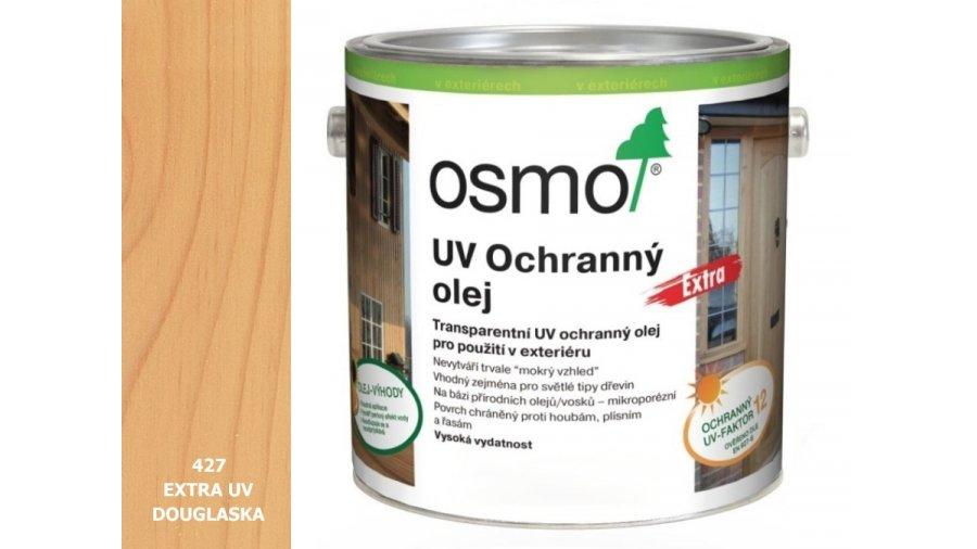 UV - ochranný olej douglaska barevný EXTRA, s účinnými látkami pro exteriér 0,75l 0