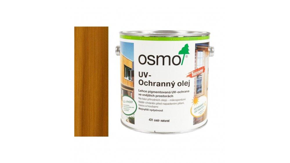 UV - ochranný olej cedr barevný EXTRA, s účinnými látkami pro exteriér 0,75l 0
